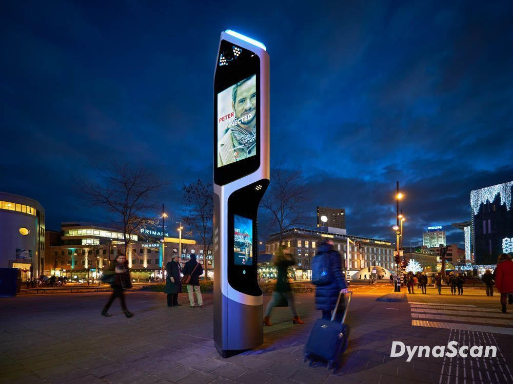 "#CityBeacon using #dynascan 55"" and 32"" displays. Integration by OCP Solutions B.V."